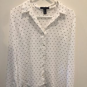 Button Down  Polka Dot Shirt